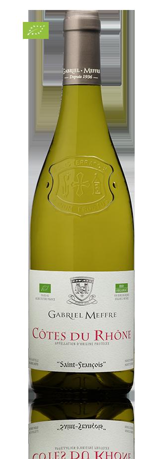 Bouteille Côtes du Rhône blanc bio GMSI