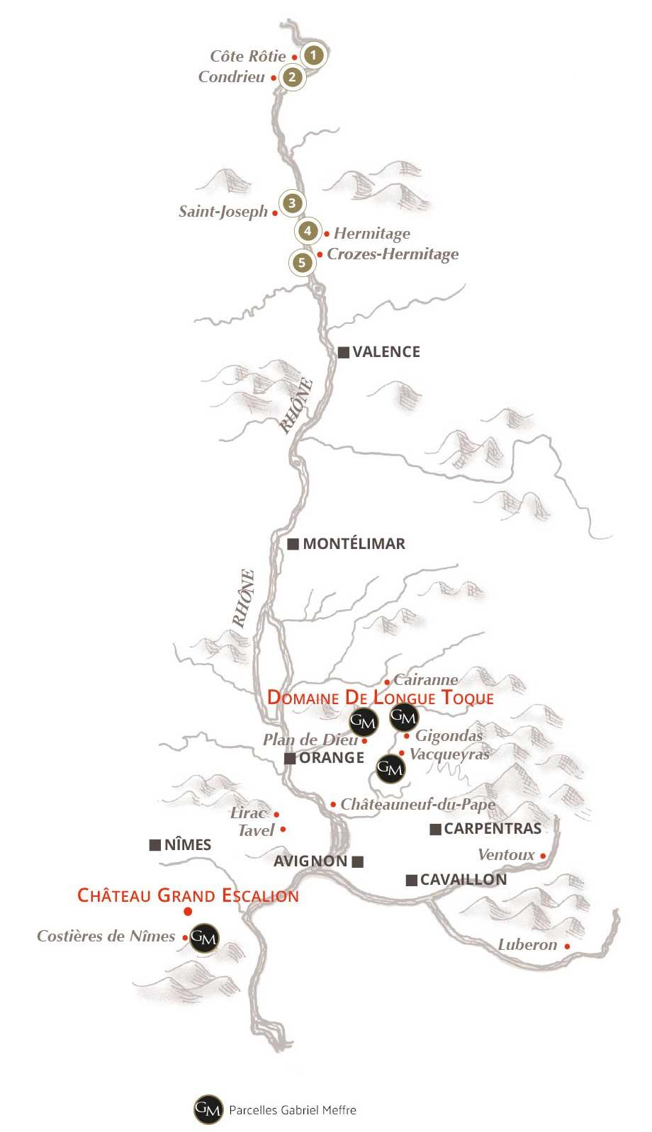 Carte des terroirs